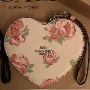 COACH Heart Shaped Wristlet